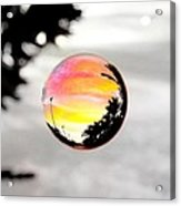 Sunset In A Bubble Acrylic Print