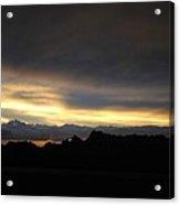 Sunset In Badlands Acrylic Print