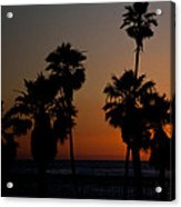 sunset in Califiornia Acrylic Print