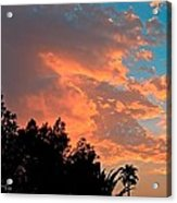 Sunset In Calm Skies Two Acrylic Print