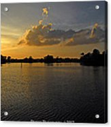Sunset In Clearwater Florida Acrylic Print