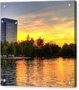 Sunset In Hermann Park Acrylic Print