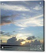 Sunset In Majuro Acrylic Print