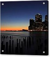 Sunset In Manhattan Acrylic Print