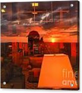 Sunset In Mckeever Lobby Acrylic Print