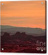 Sunset In Moab Acrylic Print