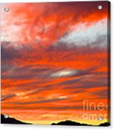 Sunset In Motion Acrylic Print