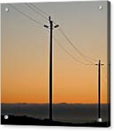 Sunset In Nor. Ca Acrylic Print