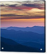 Sunset In Shenandoah National Park Acrylic Print by Pierre Leclerc Photography