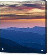 Sunset In Shenandoah National Park Acrylic Print