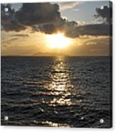 Sunset In The Black Sea Acrylic Print
