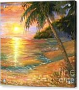 Sunset In The Tropics Acrylic Print