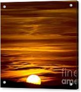 Sunset In Tuscany Acrylic Print