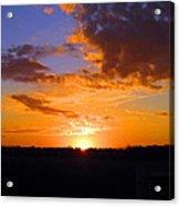Sunset In Wayne County Acrylic Print