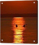 Sunset Kayakers Acrylic Print