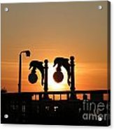Sunset Lamps R Acrylic Print by Laurence Oliver