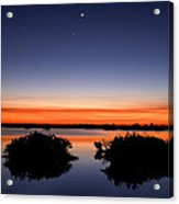 Sunset Moon Venus Acrylic Print