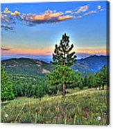 Sunset Mountain Acrylic Print
