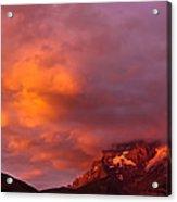 Sunset Murren Switzerland Acrylic Print