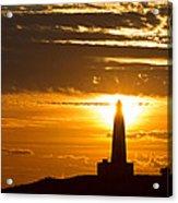 Sunset Obelisk Acrylic Print