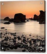 Sunset On A Rock Acrylic Print