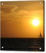 Sunset On Aruba 1 Acrylic Print