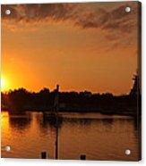 Sunset On Cape Fear Acrylic Print