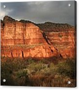 Sunset On Courthouse Butte Acrylic Print