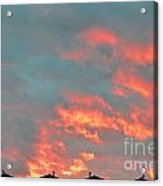 Sunset On Fire Acrylic Print