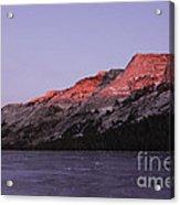 Sunset On Frozen Tenaya Lake Acrylic Print