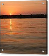 Sunset On Geist Reservoir In Lawrence In Acrylic Print