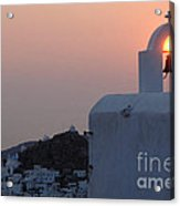 Sunset On Greek Ios Acrylic Print