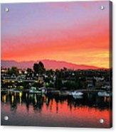 Sunset On Lake Havasu Acrylic Print