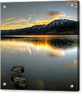 Sunset On Little Washoe Acrylic Print