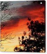 Sunset On Mountain Road  Acrylic Print