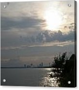 Sunset On Niagara River Acrylic Print