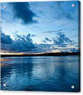 Sunset On Noosa River Acrylic Print