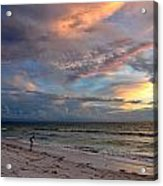 Sunset On Pass-a-grille Beach Florida Acrylic Print