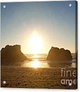 Sunset On Ruby Beach Acrylic Print