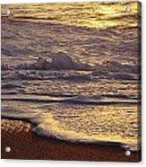 Sunset On Small Wave Acrylic Print