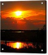 Sunset On The Bayou Acrylic Print