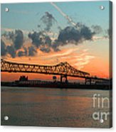Sunset On The Mississippi  Acrylic Print