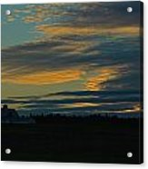 Sunset On The Old Canadian Highway Acrylic Print