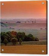 Sunset On The Prairies, Holland Acrylic Print