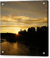 Sunset On The Rogue River Acrylic Print