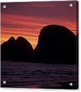 Sunset On Three Arch Rocks Bird Sanctuary Acrylic Print