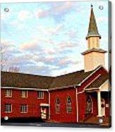 Sunset Over A Church In North Carolina Acrylic Print