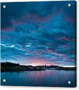 Sunset Over A River  Acrylic Print