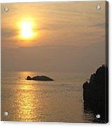 Sunset Over Biarritz  Acrylic Print