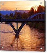 Sunset Over Caveman Bridge Acrylic Print